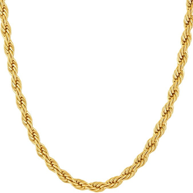 "22"" 5mm Gold Rope Chain"