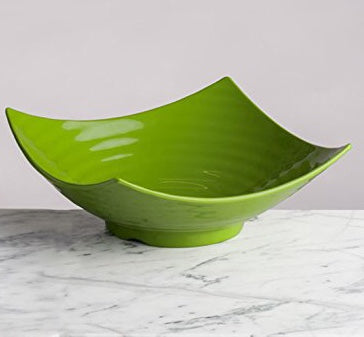 Lovely Green Square Serving Bowl 12 Inches,