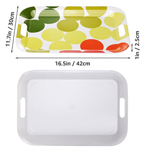 "Contemporary Melamine Serving Trays 17"" x 12"" - Set of Two!"