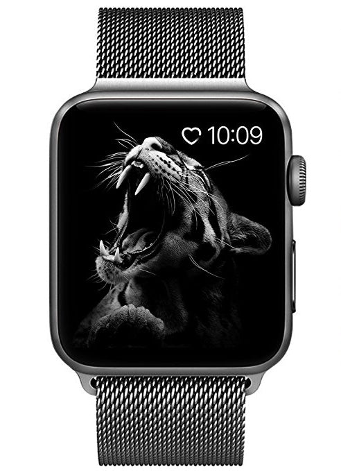 Replacement Band Stainless Steel Mesh Milanese Loop Fits Apple Watch