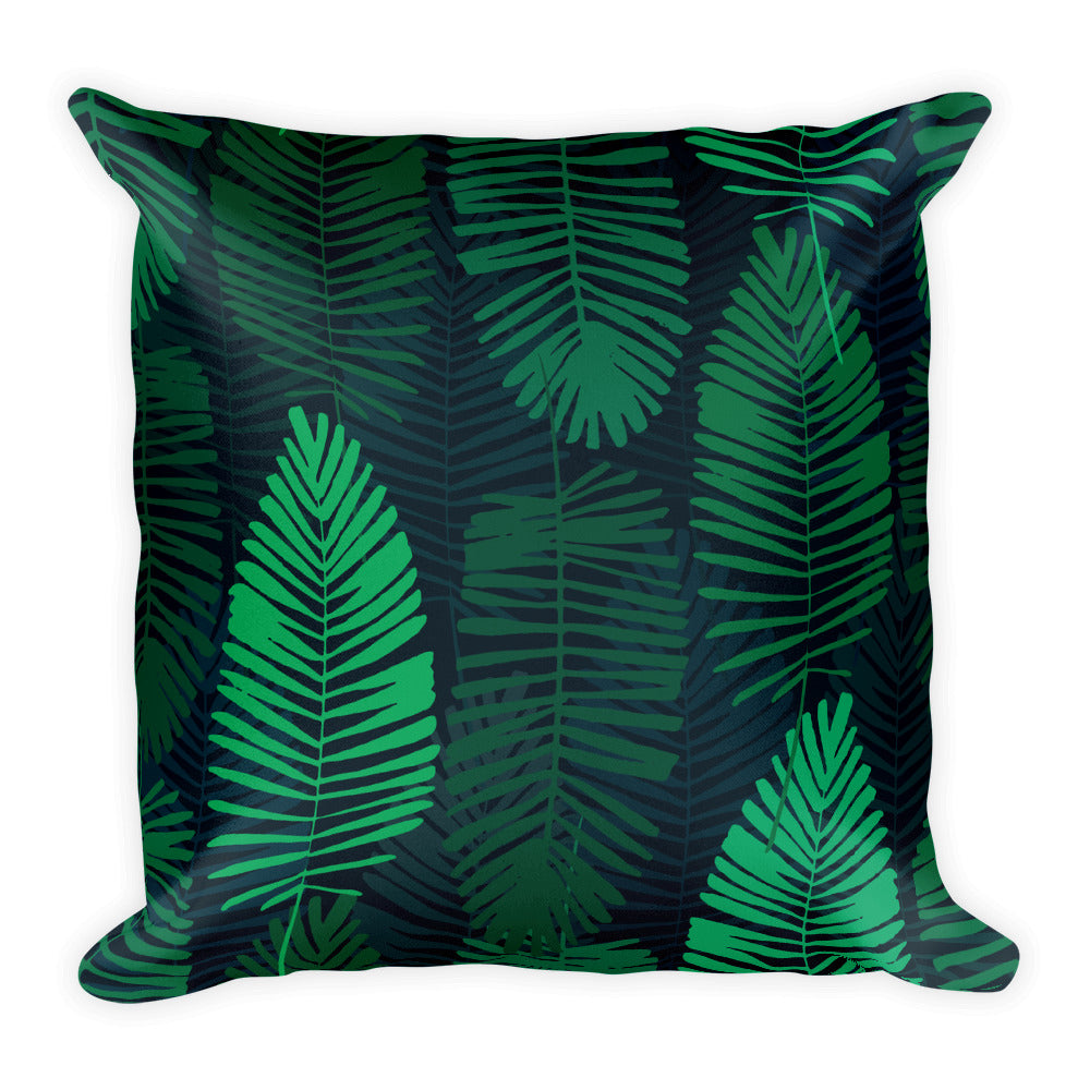 Jungle Leaves Throw Pillows