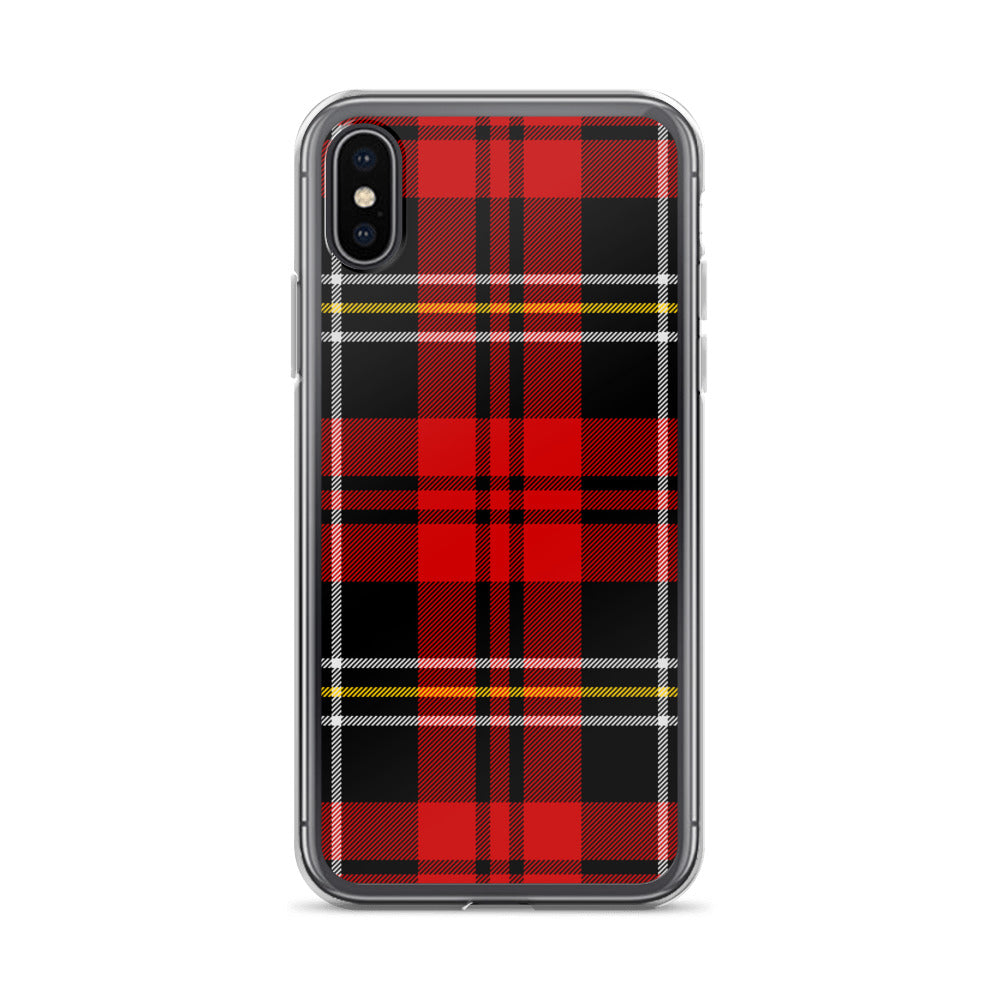 Red Tartan Plaid iPhone Cases