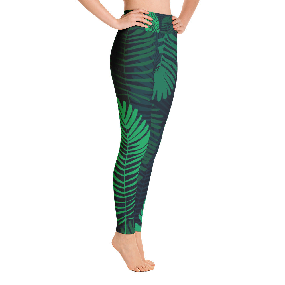 Jungle Leaves Yoga Leggings