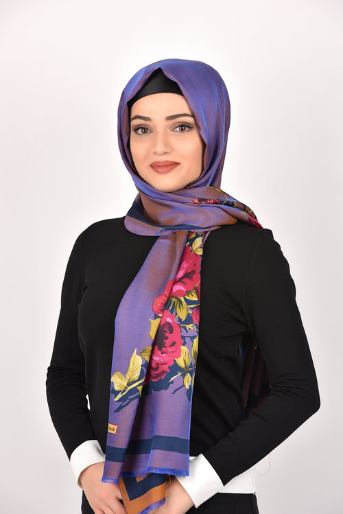 Floral Shawl Purple