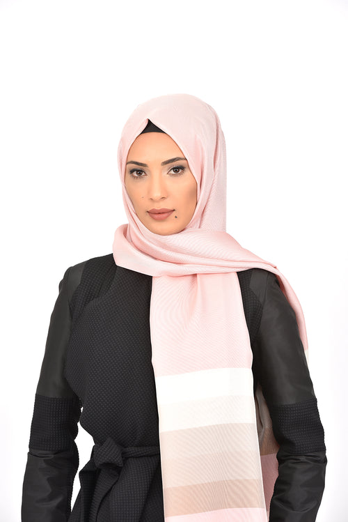 Pink Brown Scale Shawl Armine Frend