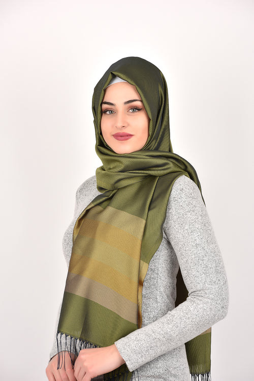 Olive Green Shawl Armine Frend