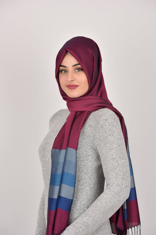 Dark Red Bluescale Shawl Armine Frend
