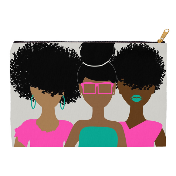 Curly Girl Trio (Pink) Pouches