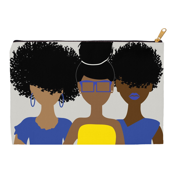 Curly Girl Trio (Blue&Yellow) Pouch