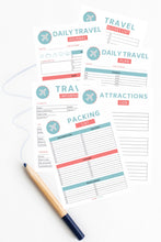 Load image into Gallery viewer, 10-Page Travel Binder Bundle