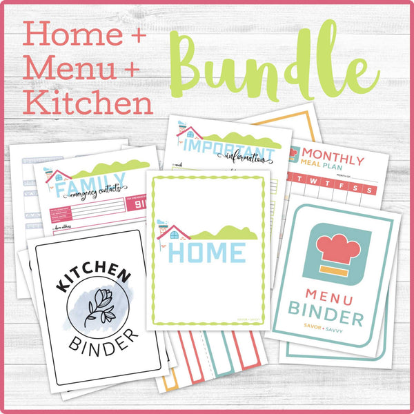Home/Kitchen/Recipe Binder BUNDLE (115 Pages) 📎
