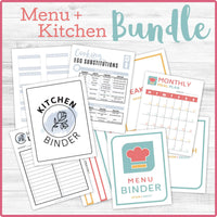 Menu & Kitchen Binder Bundle (43 Pages) 📎