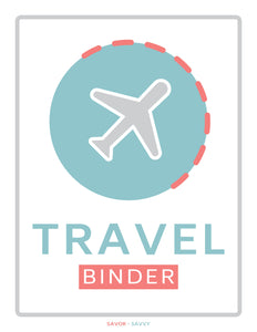 10-Page Travel Binder Bundle