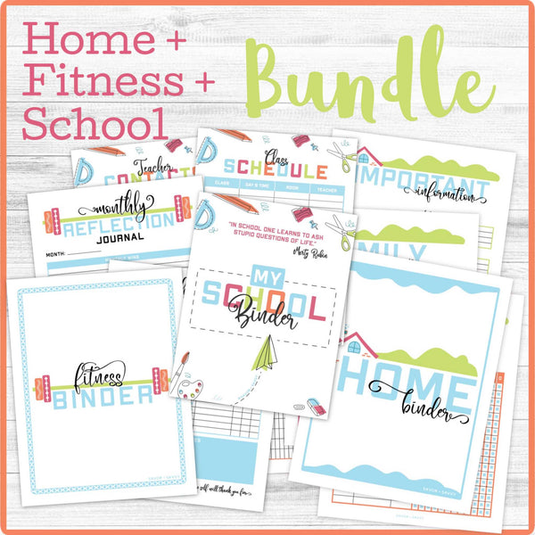 Home/Fitness/School Binder Bundle (147 Pages) 📎
