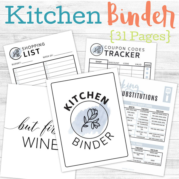31-Page Mini-Kitchen Binder 🍽