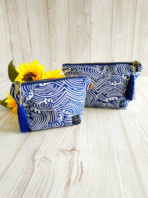 Canvas pouch, Zipper pouch, Canvas makeup Pouch.