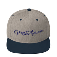 Heather Grey/Navy Blue with Navy Blue Stitching