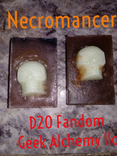 Necromancer D20 Melt and Pour Soap with glow in the dark skull