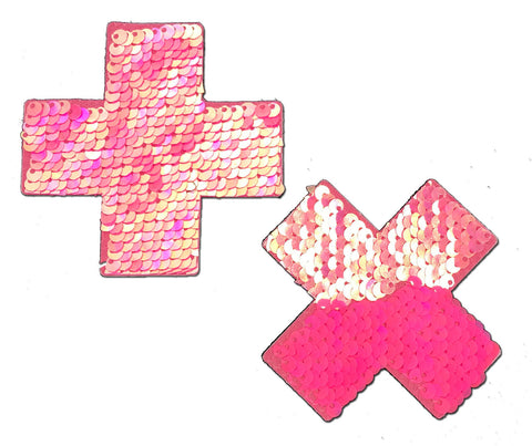 Pastease Pink Sequin Cross