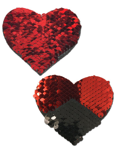 Red and Black Sequin Heart Pastease