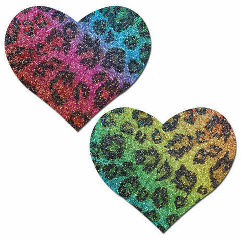 Pastease Glittering Cheetah Rainbow Heart
