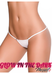 Glow Clip Y Back Thong White