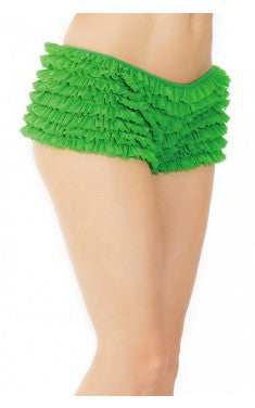 Ruffle Shorts Green
