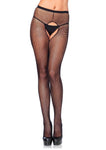 Crotchless Fishnet Pantyhose Black - Model Express Vancouver