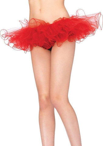 Tulle Tutu with Swirl Edge Red