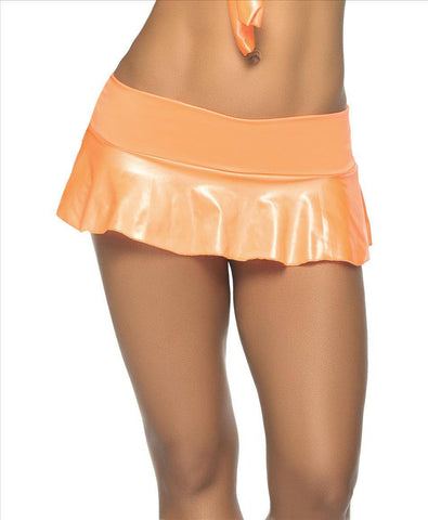 Glow Ruffle Skirt - Neon Orange