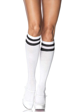 Athletic Knee Highs White/Black