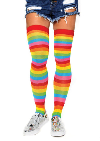 Acrylic Rainbow Thigh Highs
