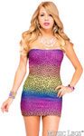 Leopard Tube Dress - Rainbow - Model Express Vancouver