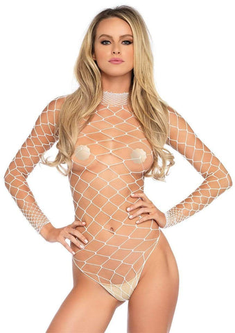 Wide Net Bodysuit White