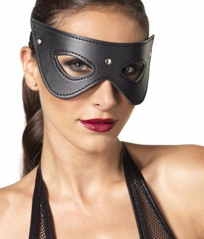 Faux Leather Studded Mask