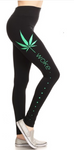 Marijuana Leaf Leggings