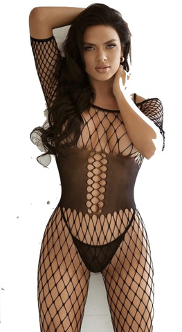 Corset Fishnet Bodystocking