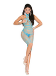Mid Length Halter Top Body Stocking Blue - Model Express Vancouver
