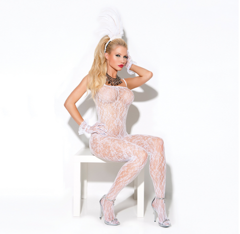 Lace Bodystocking White