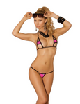 2 PC Lycra Bikini Top and G-String Pink