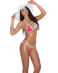 2 PC Bikini Top and G-String Pink