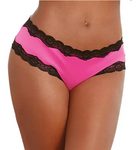 Microfiber Panty with Criss-Cross Open Back - Pink