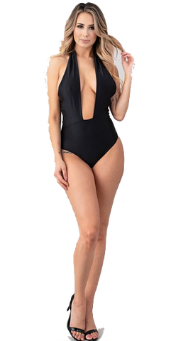 Halter Swimsuit Black