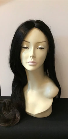 Extra Long Straight Wig with Lace Front - Off Black/Copper Blonde