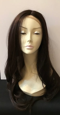 Extra Long Straight Wig with Lace Front - Medium Dark Brown