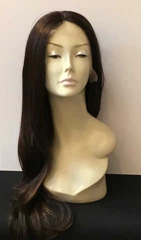 Extra Long Straight Wig with Lace Front - Medium Brown/Copper