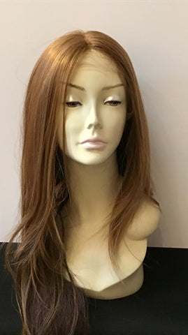 Extra Long Straight Wig with Lace Front - Honey Blonde