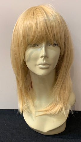Medium Length Straight Wig with Bangs - Tan Blonde - Model Express Vancouver