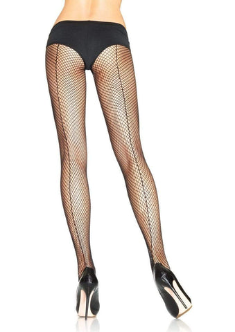 Fishnet Pantyhose with Backseam Black