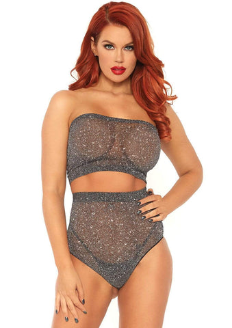 2 PC. Lurex Shimmer Spandex Strapless - Model Express Vancouver